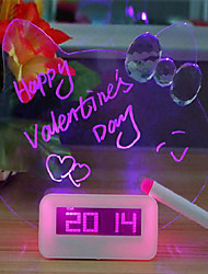 Valentine'S Day Creative Fashion Cat Light-Emitting Board Electronic  Mute Noctilucent Fluorescent Led Alarm Clock Gifts