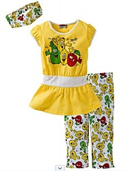 Girl's Red / Yellow Clothing Set , Bow Cotton Spring / Fall