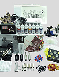 3 Guns BaseKey Tattoo Kit K311 Machine With Power Supply Grips Cups Needles(Ink not included)