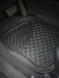 TIROL Universal waterproof non-slip Mat Heavy Duty Rubber Car Floor Mats 4 PC Set Car Floor Mats Front & Rear