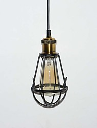 New LOFT Lamp Vintage Pendant Light Edison Light Balck Iron Metal Cage Lampshade Warehouse Style Lighting Light Fixture