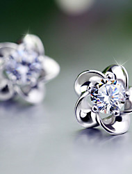 Earring Flower Stud Earrings Jewelry Birthstones