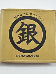 Gin Tama Cartoon Fashion Wallet Short Students Leather Wallets Men'S Wallet Women'S Wallet
