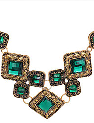 MISSING U Vintage / Party Alloy / Gemstone & Crystal Statement Necklace