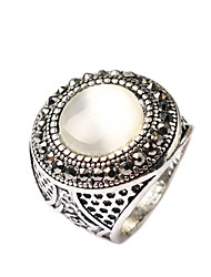 luxurious palace exaggerated style Opal alloy diamond couple ring