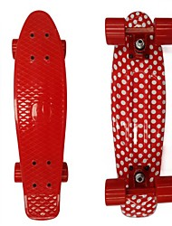 PP Plastic Skateboard (22 Inch) Cruiser Board Red&White Color