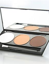 3 Palette Fard à paupières Sec Palette Fard à paupières Poudre Ordinaire Maquillage Quotidien