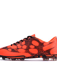Men's Soccer Shoes Cowhide Leather Spike Black/Orange/Green
