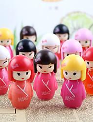 1Pcs Genuine Ling Sweetheart Doll Brightening Lip Gloss Plump Cute Girl Moisturizing Lip Gloss Color