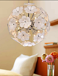 The Glass Ball Flower Garden Shops Warm Study Chandelier