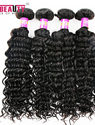 """4 pièces / lot 8 """"-30"""" péruvien cheveux vierges profonde ondes trames de cheveux humains 7a 100% cheveux remy péruvien non transformés"""