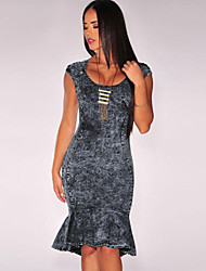Women's Dark Denim Mermaid Dress