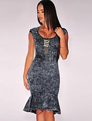 Women's Dark Denim Mermaid Dress