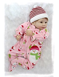 NPKDOLL Reborn Baby Doll Soft Silicone 22inch 55cm Magnetic Mouth Lovely Lifelike Cute Boy Girl Toy Pink Snowman