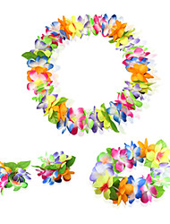 Floral Flower Hula Accessory Headpiece,Necklace and Wristbands Carnival Garment