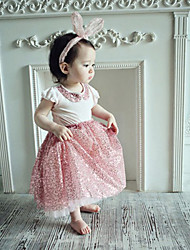 2015 Baby Girl Summer  Princess T -shirts And Skirts  Suits Children Cute Sequins Sets Girls Cotton Fashion Sets