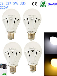 Ampoules Globe LED Décorative Blanc Chaud / Blanc Froid YouOKLight 4 pièces B E26/E27 5W 12 SMD 5730 400 LM AC 100-240 V