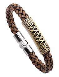 Homme Bracelets Vintage Alliage Serpent Noir Marron Bijoux 1pc