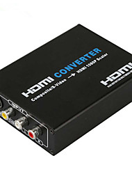 HD CVBS 3RCA S-Video AV to HDMI Box Converter Adapter AV2HDMI Cable 1080p AV to HDMI Scaler Converter