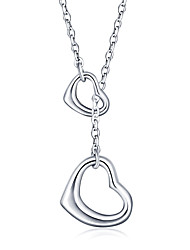 925 Sterling Silver Jewelry High Quality Heart-shaped Necklace Pendant Female Clavicle Chain Perfect Gift for Girls