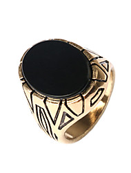 Men's Retro Ethnic style Carved Alloy Jewels Ring 05
