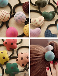 Candy Girl Fabric Hair Ties Hair Jewelry(Random)