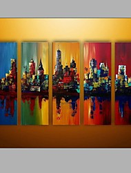 5 Sets Group Paintings Abstract Architecture Design Oil Paintings