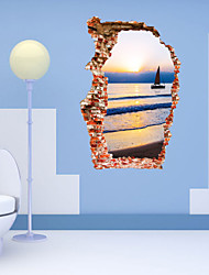 Cartoni animati / Romanticismo / Fashion / Paesaggio / Forma / Fantasia / 3D Adesivi murali Adesivi 3D da parete , PVC90cm x 60cm( 35in x