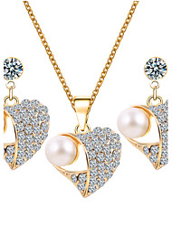 HUALUO@European And American Style Jewelry Sets Pearl Jewelry Sets Rhinestone