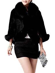 elegante eco-pelliccia, cappotto sleeveless caldo delle donne