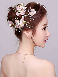 Sweety Flower Girl's Rhinestone / Imitation Pearl Headpiece - Wedding / Special Occasion Flowers (4 Pieces/Set)