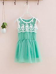 Vestido Chica de-Verano-Rayón-Verde