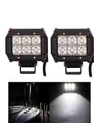 2PCS 4 inch 18W Cree Led Work Light for Car Motor Truck SUV ATV 4WD OffRoad Driving Flood LED Lamp Light Bar 12V 24V