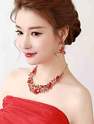Red Anniversary / Wedding / Engagement  / Gift / Party Necklace with Crystal/Rhinestone