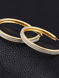 Hoop Earrings Alloy Cubic Zirconia Silver Plated Statement Jewelry Gold Silver Jewelry 2pcs