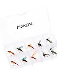 10pcs Fly Fishing Hooks Carbon Steel Fly Fishing Lure Set Artificial bait with Box