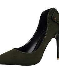 Women's Shoes Velvet Stiletto Heel Heels Heels Wedding / Dress Black / Green / Pink / Red / Gray / Burgundy