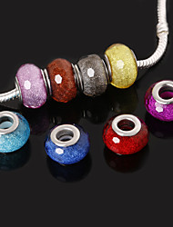 Beadia 10Pcs Resin Large Hole Beads 10x14mm Fit European Necklaces Bracelets