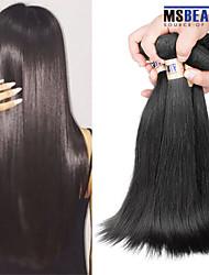 """4 unidades / lote 8 """"-30"""" cabelo 6a peruano cabelo virgem reta humano tramas 100% Remy peruano não transformados tece cabelo"""
