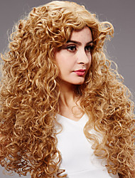 Long Length Curly Hair European Weave Light Blonde Hair Wig