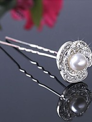Beautiful Alloy/Imitation Pearls Hairpins (Set of 3)