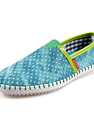 Men's Shoes Outdoor / Office & Career / Casual Fabric Loafers Blue / Green