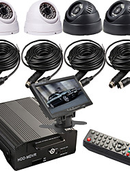 Hard Disk 4-way Car Video Camera Monitors The Hardcover Video Recorder Bus Special Vehicle Management