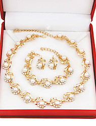 Fashion gold-plated necklace (necklace) (earrings)(Ring)
