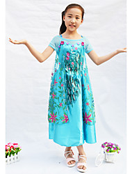 Blue Chiffon Frozen Girls' Elsa Ball Gown Formal Dress