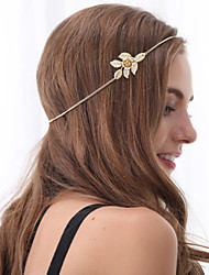 Women Fashion Luxury Golden Flowers Leaves Headbands Hair Accessories 1pc
