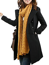 Women's Stand Collar Double-breasted Trench Coat