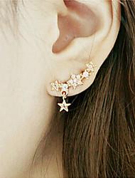 New Arrival Fashional Rhinestone Star Earrings