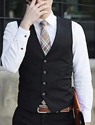 Men's Sleeveless Vest , Acrylic / Polyester Work / Formal Pure k048