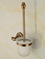 Antique Toilet Brush Holder , Neoclassical Brushed Wall Mounted